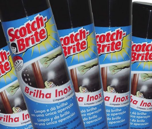 Brilha Inox Scoth- Brite 3M | Vinil Tapetes